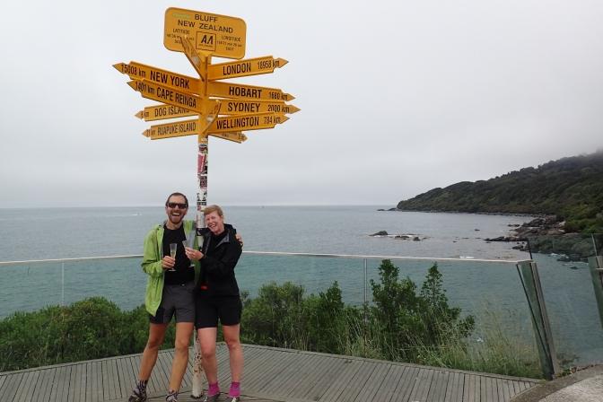 DER ZIEL-TAG   Von Invercargill (Hostel Southern Comfort) km 3007 nach BLUFF km 3041 – Wandertag 113, 34 km (gelaufen ca. 10km)